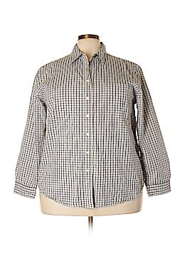 Carolina Colours Long Sleeve Button-Down Shirt Size 22 (Plus)