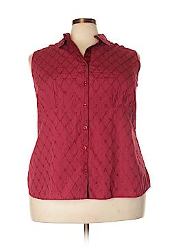 Venezia Sleeveless Button-Down Shirt Size 26/28 (Plus)