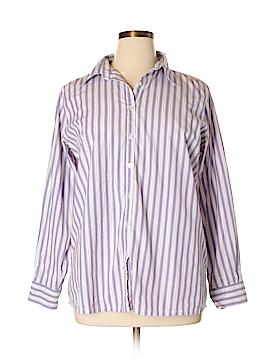 Silhoutte Long Sleeve Button-Down Shirt Size XL