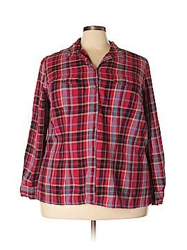Crazy Horse by Liz Claiborne Long Sleeve Button-Down Shirt Size 3X (Plus)