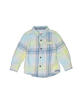 Cat & Jack Long Sleeve Button-Down Shirt Size 18 mo