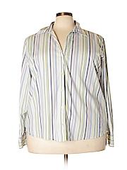Bill Blass Jeans Women Long Sleeve Button-Down Shirt Size 3X (Plus)