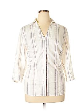 TanJay 3/4 Sleeve Button-Down Shirt Size 16
