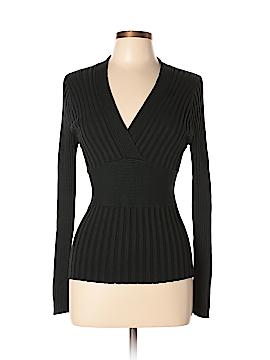 CAbi Long Sleeve Silk Top Size M