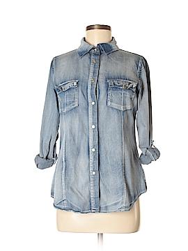 Daytrip Long Sleeve Button-Down Shirt Size M