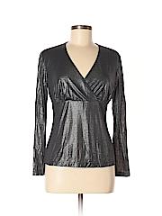 Lafayette 148 New York Women Long Sleeve Top Size M