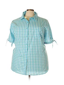Roaman's Short Sleeve Button-Down Shirt Size 32 (Plus)