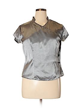 Canyon River Blues Short Sleeve Blouse Size XL