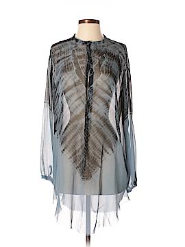 Raquel Allegra Long Sleeve Silk Top Size Med (2)