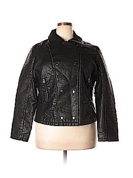 Rue21 Faux Leather Jacket Size 2X (Plus)