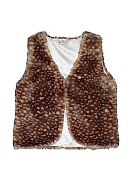 Hanna Andersson Faux Fur Vest Size 140 (CM)