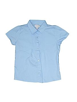 The Children's Place Short Sleeve Button-Down Shirt Size M (Kids)