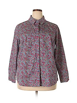 The Tog Shop Long Sleeve Button-Down Shirt Size 1X (Plus)