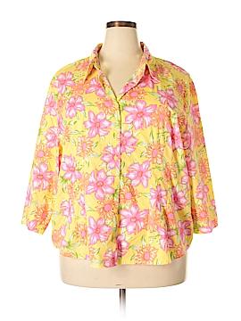 Carolina Colours 3/4 Sleeve Button-Down Shirt Size 26 - 28 (Plus)