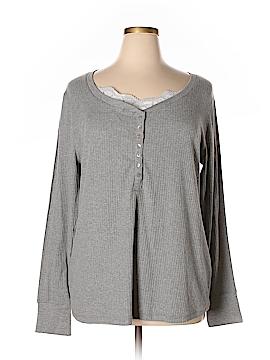 Zoey & Beth Long Sleeve Henley Size 3X (Plus)