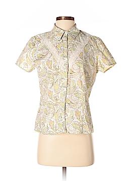 Miss O by Oscar de la Renta Short Sleeve Button-Down Shirt Size 8
