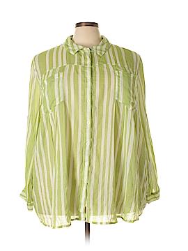 Roaman's Long Sleeve Button-Down Shirt Size 30 (Plus)