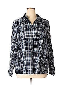 Northcrest Long Sleeve Button-Down Shirt Size 2X (Plus)