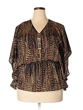 MICHAEL Michael Kors Short Sleeve Blouse Size 1X (Plus)