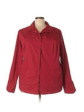 Cj Banks Long Sleeve Button-Down Shirt Size 4X (Plus)
