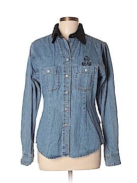 Warner Bros Long Sleeve Button-Down Shirt Size L