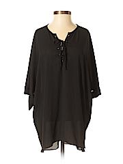 Zoa Women Short Sleeve Blouse Size S