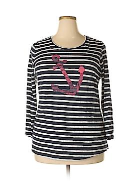 Crown & Ivy Long Sleeve T-Shirt Size 1X (Plus)
