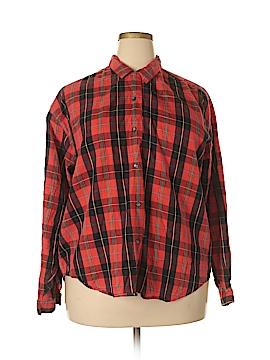 Dockers Long Sleeve Button-Down Shirt Size 2X (Plus)