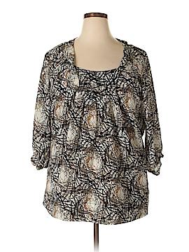 Ninety 3/4 Sleeve Blouse Size 1X (Plus)