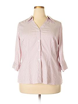 Alfani 3/4 Sleeve Button-Down Shirt Size 18w (Plus)
