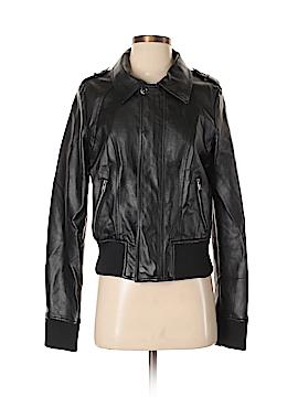 Neiman Marcus Faux Leather Jacket Size M