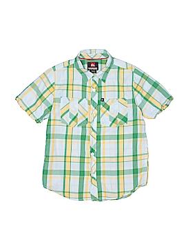 Quiksilver Short Sleeve Button-Down Shirt Size 8 - 10