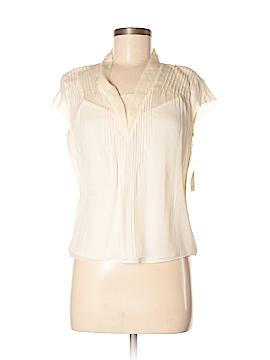 City DKNY Short Sleeve Silk Top Size 4