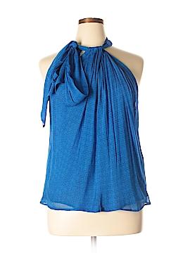 Diane von Furstenberg Sleeveless Silk Top Size 14