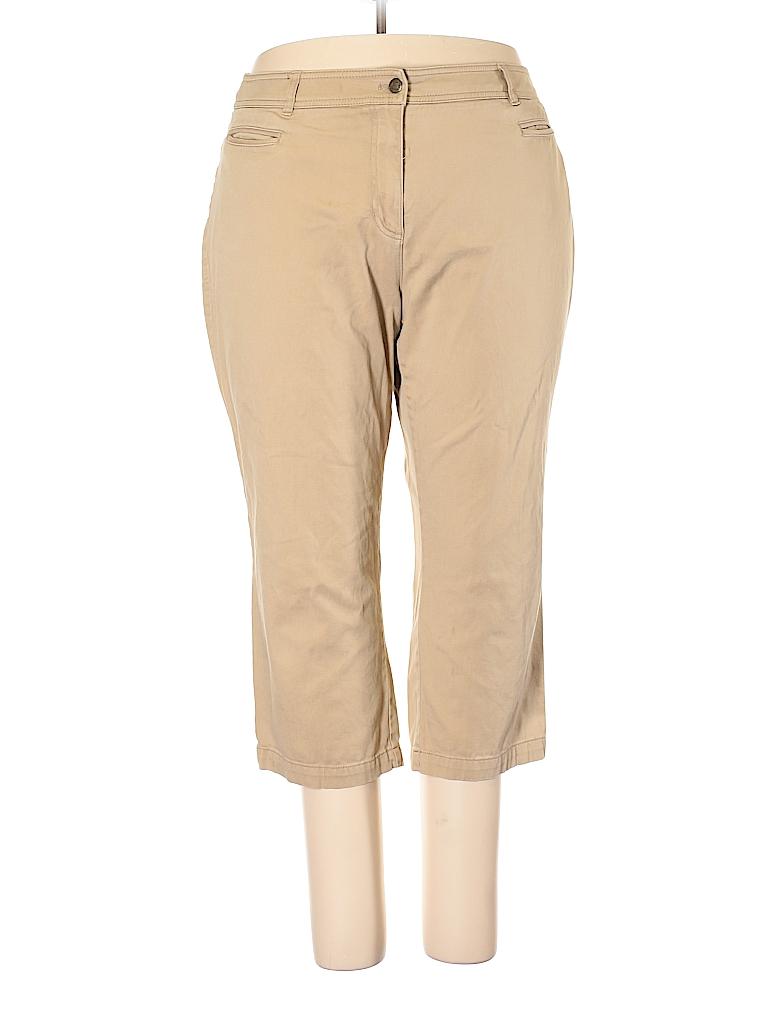 cdc0c9d59ee Jones New York Sport Solid Tan Khakis Size 18 (Plus) - 76% off