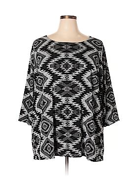 Attitudes by Renee 3/4 Sleeve Blouse Size 3X (Plus)