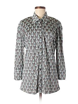 Herion Long Sleeve Silk Top Size 48 (EU)