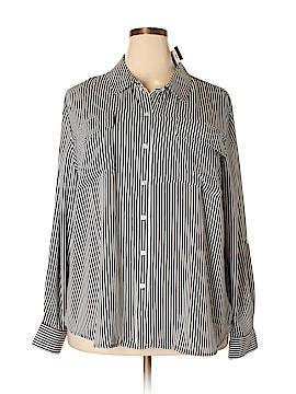 INC International Concepts Long Sleeve Blouse Size 22 (Plus)