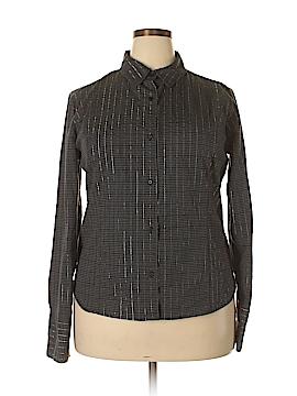 Jaclyn Smith Long Sleeve Button-Down Shirt Size XXL