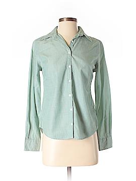 Lands' End Canvas Long Sleeve Button-Down Shirt Size 2