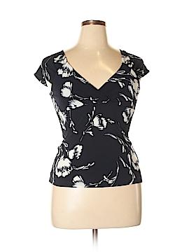 Chaps Short Sleeve Blouse Size L (Petite)