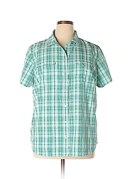 Eddie Bauer Short Sleeve Button-Down Shirt Size 2X (Plus)