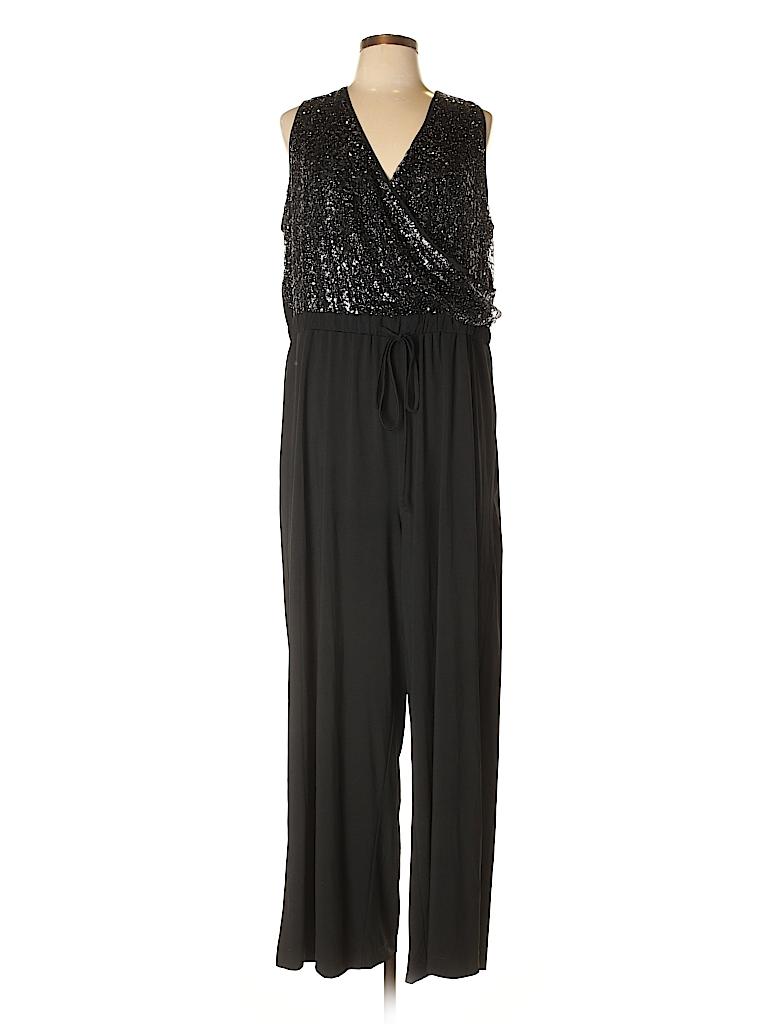 b336c58fc93 Lane Bryant Solid Black Jumpsuit Size 18 - 20 Plus (Plus) - 70% off ...