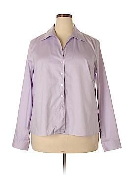 Evan Picone Long Sleeve Button-Down Shirt Size 18 (Plus)