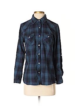 Aqua Long Sleeve Button-Down Shirt Size XS
