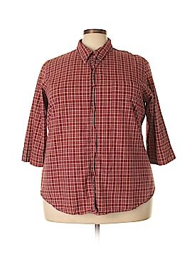Venezia 3/4 Sleeve Button-Down Shirt Size 24 (Plus)