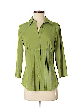 Como 3/4 Sleeve Button-Down Shirt Size S