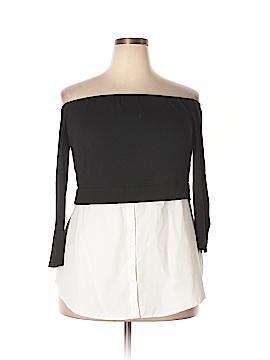 City Chic 3/4 Sleeve Top Size 16 Plus (S) (Plus)