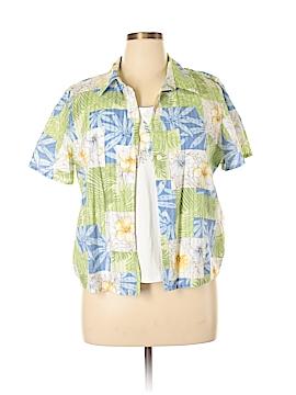 Alfred Dunner Short Sleeve Button-Down Shirt Size 16 (Petite)