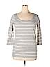 Hi-Line Women Long Sleeve T-Shirt Size L